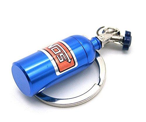 YEAH67886blu modelli di auto parts mini Protossido bottiglia portachiavi