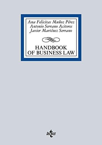 Handbook Of Spanish Business Law (Derecho - Biblioteca Universitaria De Editorial Tecnos)