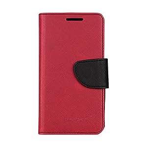 encase Flip Cover for Motorola Moto E 2nd Gen - Pink, Black