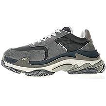 Balenciaga Triple S Grey WO9S1 1056 Hombre Zapatos