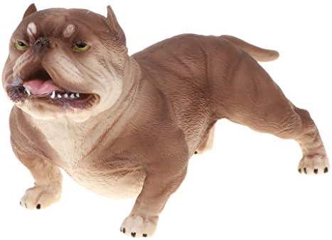 perfeclan perfeclan perfeclan Mignon Animal Modèle Figure Figurine Jouet Décor À La Maison Américain Bully Pitbull | Une Bonne Réputation Dans Le Monde Entier  e6d448