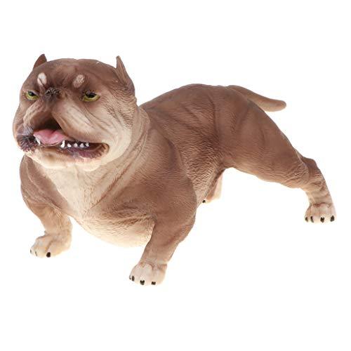 Juguete de Animales de Simulación Plástico Adorno de Hogar Regalo para Cumpleaños Navidad Halloween para Niños Niñas - American Bully Pitbull #B