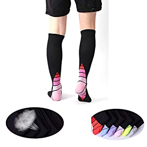 TMDFight Pressure Compression Socks Oberes Rohr aus Lycra strafft Das Kalb, um Muskelkater zu verhindern