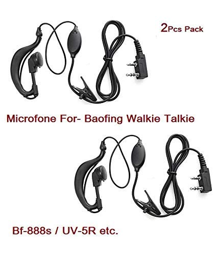 Manya Impex Wired Earphone with Mic for Walkie Talkie Baofing Model