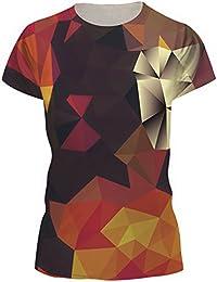 TDOLAH Damen Sommer Shirt Bluse 3D Print Kurzarm Design Tops Hemd T-Shirt
