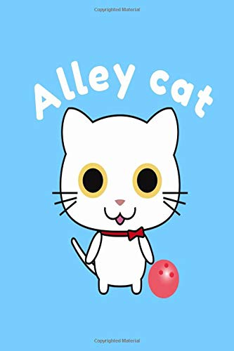 Alley Cat: Bowling Note Log Book Composition journal por Bowling Designs