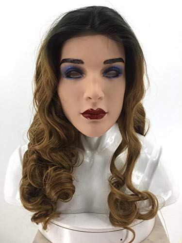 Weiblich Kostüm Alien - Realistische cosplay kostüm party halloween wunderbare hübsche frau silikon weibliche maske for männer erwachsene größe