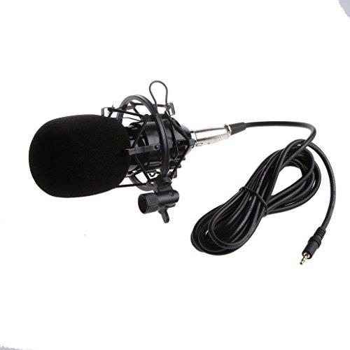 ELECTROPRIME Condenser Sound Recording Microphone & Shock Mount Radio Broadcasting Black