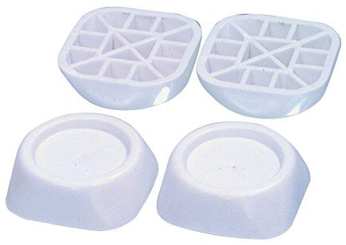 Gummi Schwingungsdämpfer Vibrationsdämpfer für Waschmaschinen und Trockner, alternativ zu Electrolux 50291828007, 4 Stück