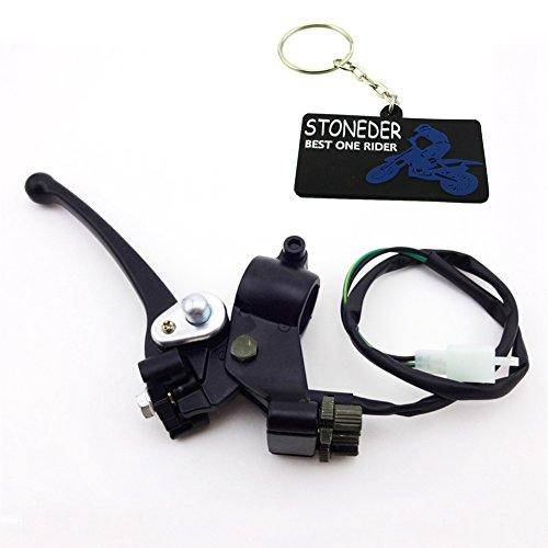 Stoneder 7/20,3 cm 22 mm en alliage double double chinois ATV Poignée levier de frein assemblée pour 49 cc 50 cc 70 cc 90 cc 110 cc 4 Wheeler Quad Moto