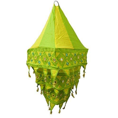 paralume-lanterna-a-tre-lande-70cm-verde-giallo-quadrato-tessuto-indiano-mano-dopera-dindia