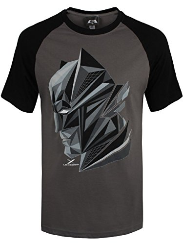 Batman V Superman T-Shirt 3D Head da uomo in grigio