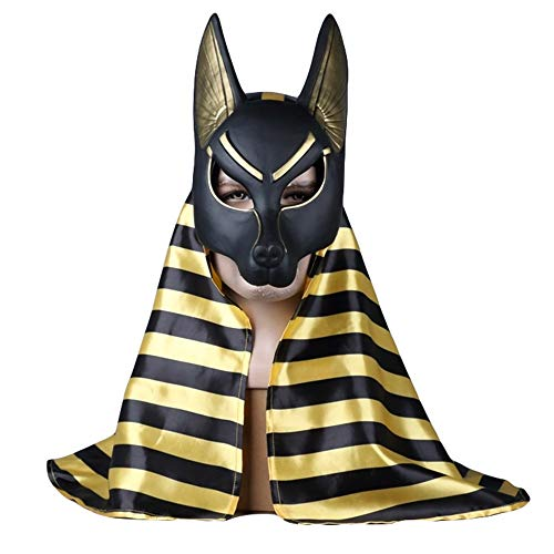Hope Death Anubis Plastikmaske Cosplay Kostüm Halloween Maskerade Ball Party Masken One Size für 55-62 cm,B-OneSize