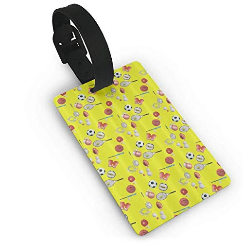 Party of Ball Baseball Tennis Soccer Bowling Luggage Tags Travel Bag Suitcase Labels