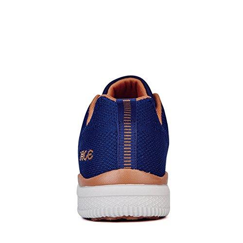 HooH Chaussures de Marche Hommes Amorti Traînée Tennis Lace Up Léger Outdoors Décontractée Sports Bleu