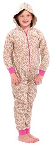 LD Outlet Jungen Schlafanzug Braun Brown (Cheetah Kostüm Mädchen)