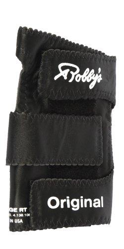 Robby 's Leather Original linken Handgelenk Unterstützung Bowling Handschuh, Herren, Leather Original Left Wrist Support, schwarz (Bowling Handschuh-handgelenk-unterstützung)