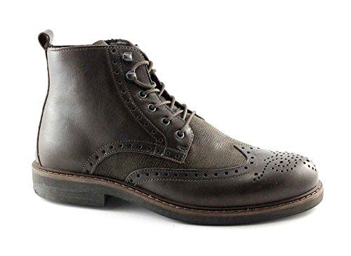 IGI&CO 66585 t.moro scarpe uomo scarponcini pelle lacci mid zip inglese Marrone
