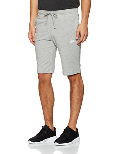 Nike m nsw jsy club, pantaloncini uomo, grigio/bianco, m