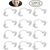 Siming 12 Pieces Mouth Opener, M Size C-Shape Clear Dentistry Dental Tools Cheek Retractor for Mouthguard Challenge Game