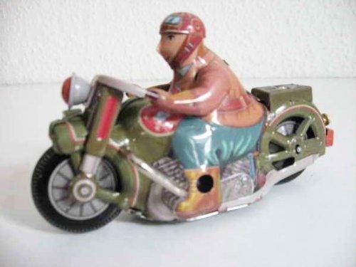 Blechmotorrad Motorrad aus Blech Blechspielzeug