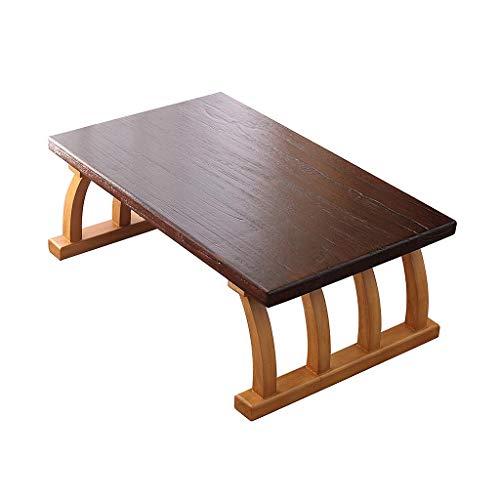 Table basse carrée japonaise en paulownia, table tatami en bois massif offrant 2 tapis de coton, petite table à thé facile à assembler pour le salon, balcon et jardin (taille : 70×45cm)
