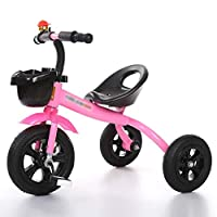 BABYGAMK Children Toddler Tricycle Tricycle 3 Wheeler Smart Design Children Bicycle Bike Boys Girls Baby Carriage Toy Car Trike Kid 3 Wheels (Color : Pink , Size : 57*68cm )