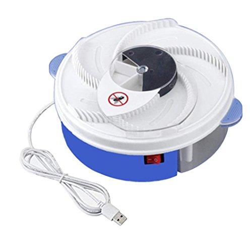 Elektrischer Insektenvernichter,Moskito Killer Elektrische Fliegenfallen-Gerät mit Trapping Food - White USB-Kabel Fliegen Pest Catcher für Home Kitchen (Blau) -