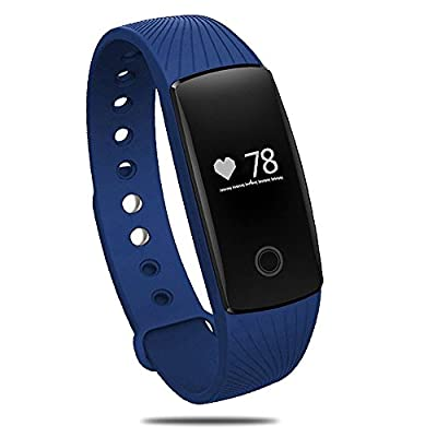 [New Release]Sports Bracelet,PALADY ID107 Bluetooth 4.0 Smart Bracelet Smartband Heart Rate Monitor Sport Wristband Fitness Tracker For Android iOS Smartphone,for iPhone 7,Blue by PALADY