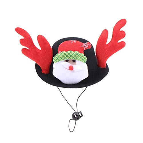 Kostüm Weihnachten Kitty - Amosfun Weihnachten Hund Hut Haustier Welpe Katze Cosplay Kostüm Dekor Kappe für Weihnachten Kitty Welpe lustiges Kostüm