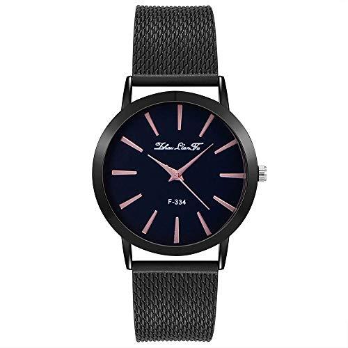 8d3607a01321 Yivise Moda Mujer Reloj de Lujo Correa de Silicona de Acero Inoxidable Pin  Hebilla de Cierre de Cuarzo Analógico Dial Redondo Relojes