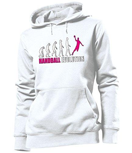 Sport - HANDBALL EVOLUTION - HOODIE Donna Felpa con cappuccio Taglia S to XXL vari colori Blanc / Pink