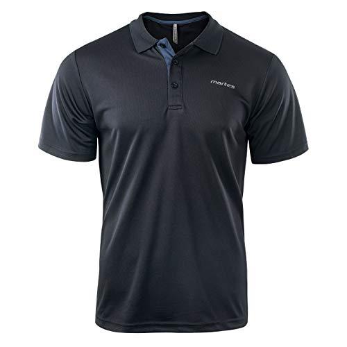 Martes Herren Solo Funktions Polo Shirt, Black/Mood Indigo, M (Herren Polo-shirts)