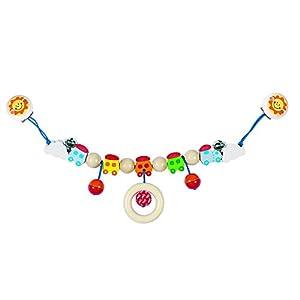 Goki Pram Chain Train II with Clips Juguete Colgantes para bebé - Juguetes Colgantes para bebé, Metal, Madera, Cochecito/Carrito de bebé, Niño/niña, Alemania, 40 cm