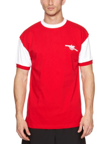 Score Draw Official Retro Herren T-Shirt, Arsenal 1971, Nr. 7, Fußball Medium rot - rot (Training Arsenal Shirt)