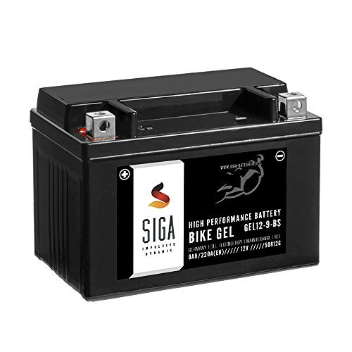 SIGA Bike GEL YTX9-BS Motorrad Batterie 12V 9Ah 220A/EN GEL12-9-BS YTX9-4 50812