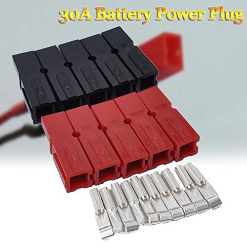20 connettori per batteria auto, 30 Amp, presa elettrica, per carrello da golf