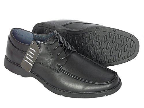 Chaussures homme, de travail, d'uniformes habillées, de mariage - 3 Modèle: Avec Lacets, Sans Lacets, Avec Pampille - Noir et Brun Noir avec lacets