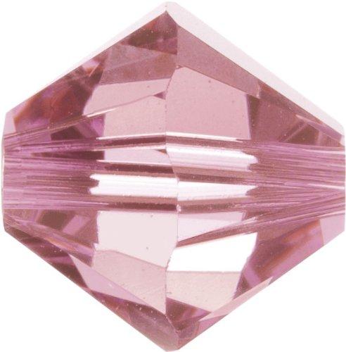 Original Swarovski Elements Beads 5328 MM 5,0 - Tanzanite AB (539 AB) ; Diameter in mm: 5 ; Packing Unit: 720 pcs. Light Rose (223)
