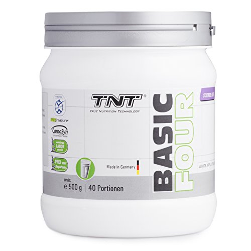 Pre-Workout-Booster-Fitness-fr-Konzentration-und-Fokus-Trainings-Booster-Shake-mit-Koffein-Beta-Alanin-CarnoSyn-Kreatin-Creapure-fr-Kraft-Energie-TNT-BASIC-FOUR-500g-Pulver