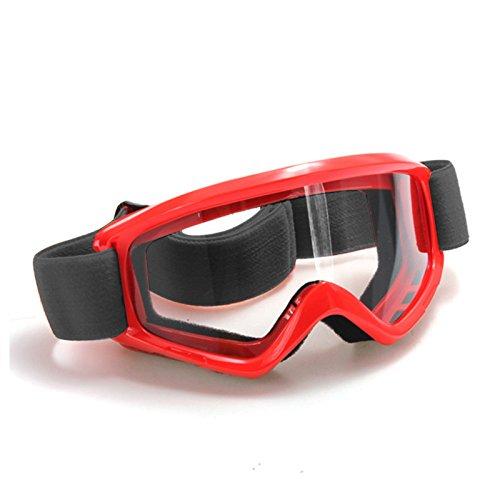 Occhiali Protezione - SODIAL(R)Occhiali Protezione per Sport Bici Mtb Bmx Atv Softair Sci Snowboard Moto Cross rosso