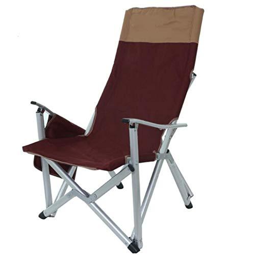 PFSNR Sonnenliege Klappbarer Gartensitz Strandkörbe Liegestühle Terrasse Liege - Strandkorb mit Armlehnen - tragbarer klappbarer Campingstuhl (Color : Red, Size : One Size)