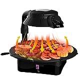 Elektrogrill Grill Tischgrill 1400 Watt Rauch- Und Fettfreies Grillen Rotierende Grillpfanne Auffangbehälter Leichte Reinigung