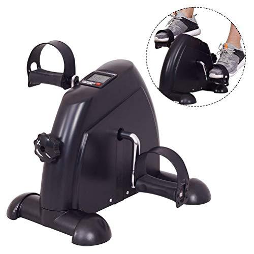 GFYWZ Unter Schreibtisch Fahrrad Pedal Exerciser mit LCD-Bildschirm, Fuß Zyklus Arm & Bein Peddler Maschine Spannung einstellbar Übung Pedal Bike (Pedal-ergometer übung)