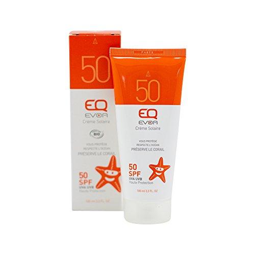 EQ   Sonnencreme LSF50-100ml - Hoher Schutz für Gesicht & Körper von ECOCERT® zertifiziert - wasserfest