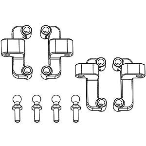 Carson 500405353 - Accesorios de modelización: X10EB Superior del Brazo Holder, Delantero / Trasero, 4 Piezas
