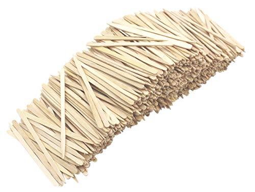 Flache Zahnstocher aus natürlichem Holz für Party, Vorspeisen, Oliven, Grillen, Dessert, Obst, Wurstholz, 8,5 cm Länge (1000 Stück)