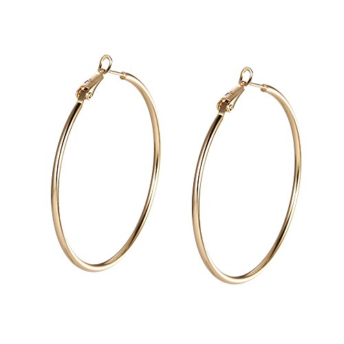 Xuping - Orecchini/gioielli grandi a cerchio placcati color oro 18K, da donna, regali speciali, Black Friday, fest