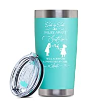 ‏‪Sisters Gifts From Sister Funny Mugs - Unique Sister Gifts From Sister -soul Sister Gifts For Women- Coffee Tumbler For Women - Cute Travel Mugs For Women - Best Sister Gifts- 20 Oz Tumbler (Teal)‬‏