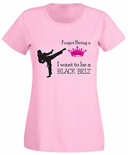 SuperPraise - Camiseta - Cuello redondo - para mujer multicolor rosa claro Small